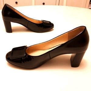 Hogl Bkack Patent Leather Heels